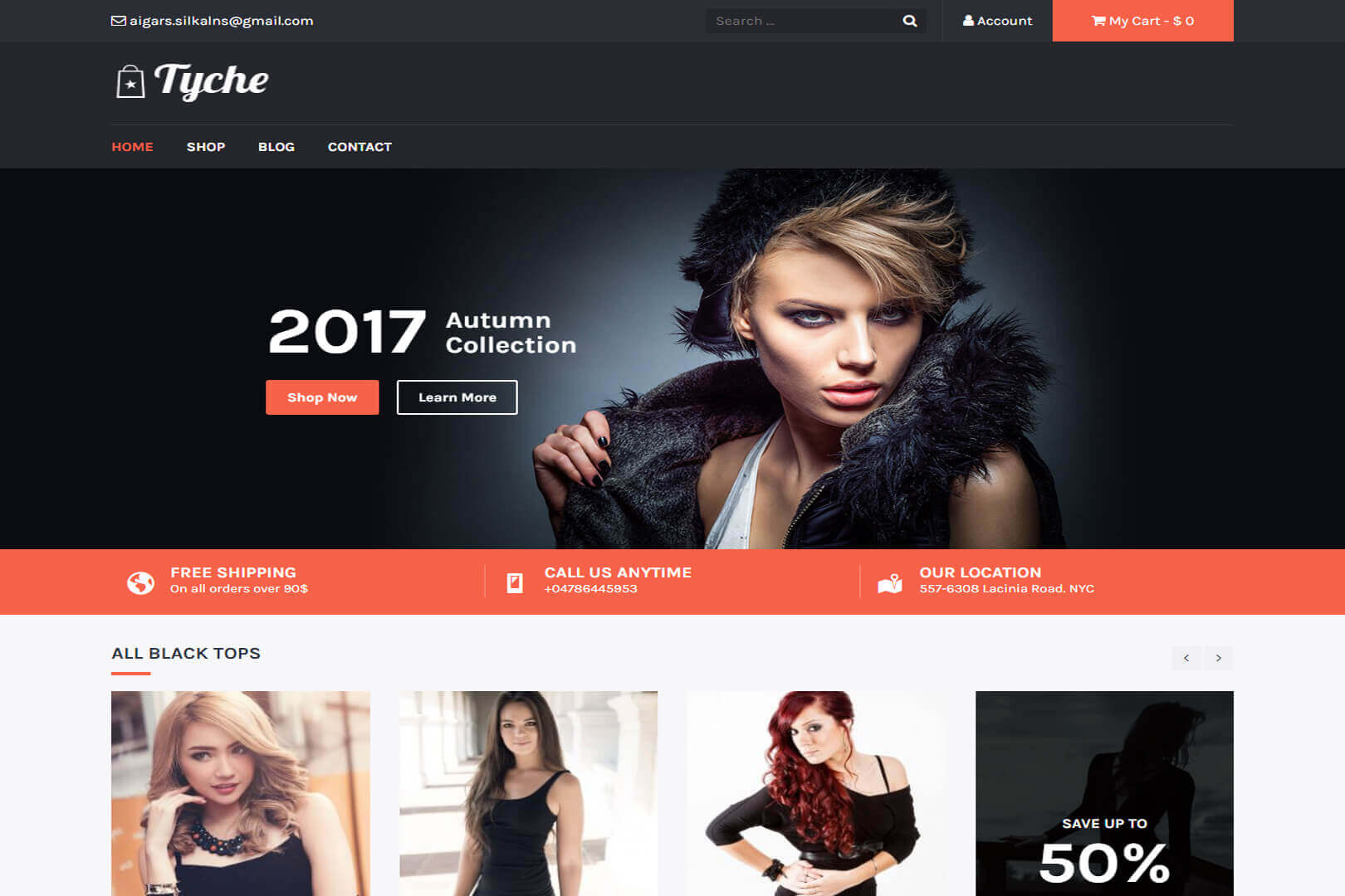 Tyche Business Responsive Website Template Free Download