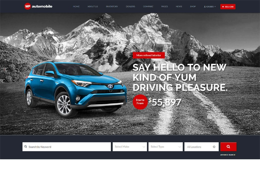 The Automobile WordPress Website Template - Templates Hub