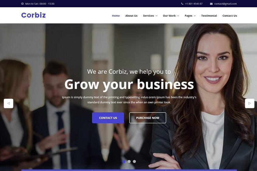 Corbiz - Multipurpose Business Consulting HTML Template