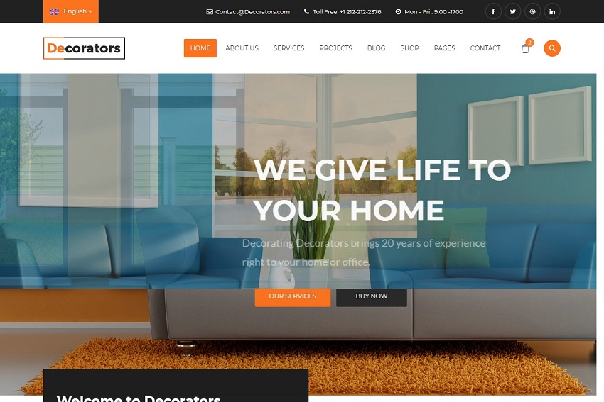 Decorators Html Template For Architecture Website Free Download