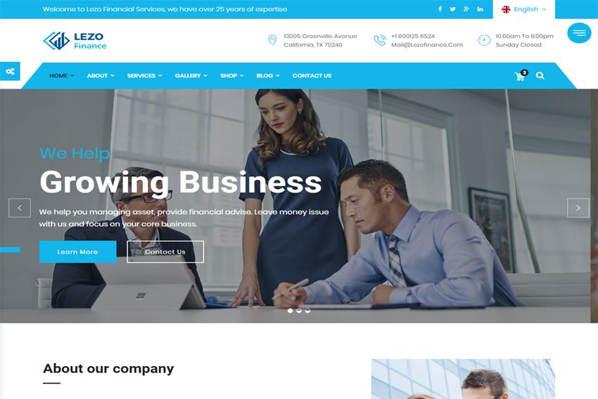Lezo Finance Business Html Website Template Free Download