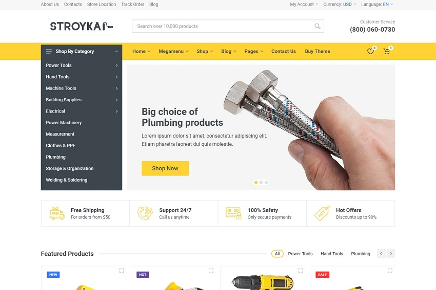 Stroyka - Tools Store HTML Template free download