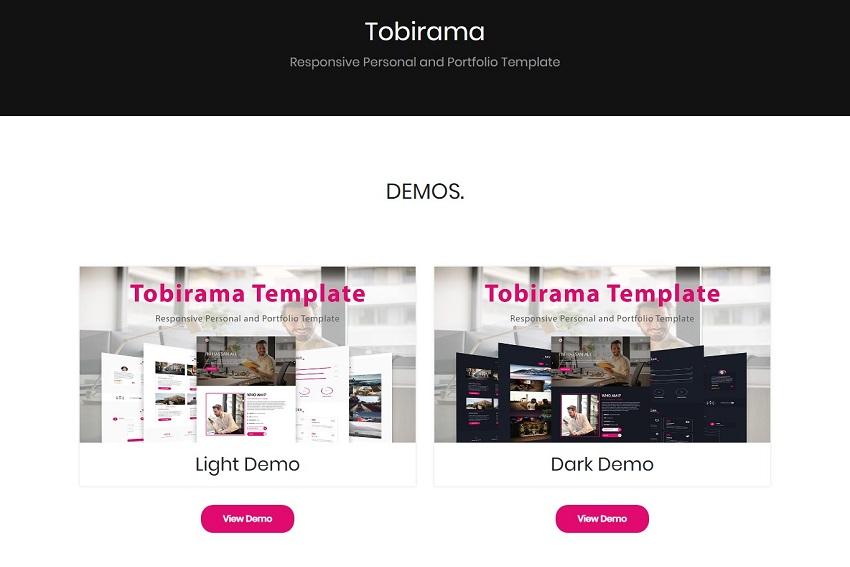 Tobirama - Responsive Personal and Portfolio Template