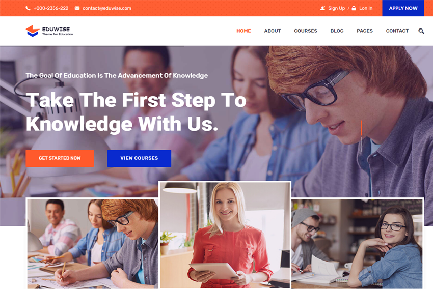 Eduwise Education Bootstrap 4 Template Free Download