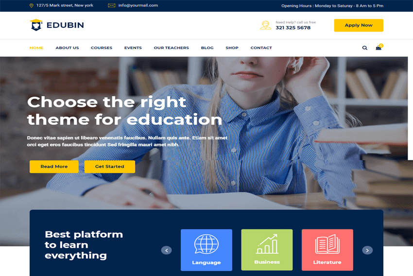 Edubin Education Website Html Template Free Download