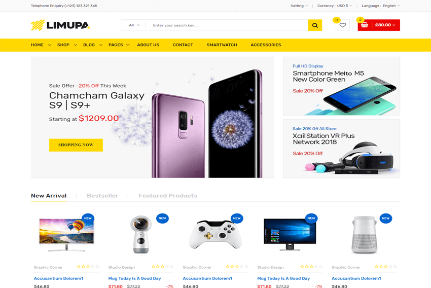 Limupa Store eCommerce HTML Templates Free Download - Templates Hub