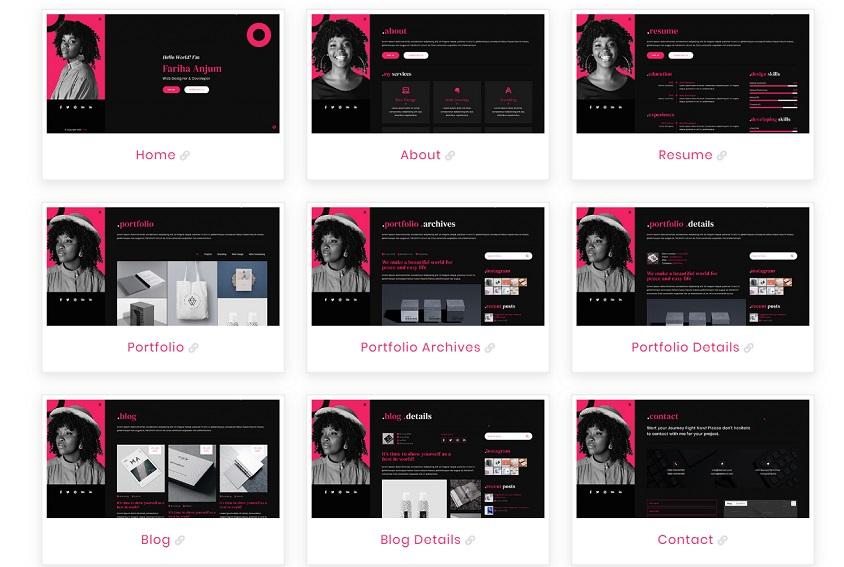 Responsive Free Portfolio Website Templates Templates Hub