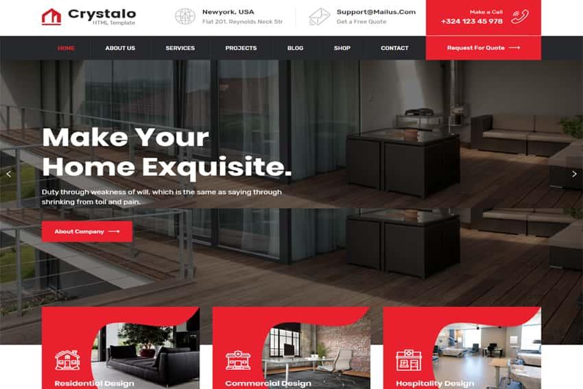 Responsive Free Interior Design Website Templates Templates Hub